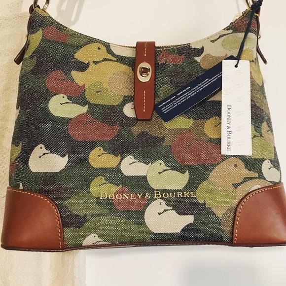 Dooney & Bourke Handbags - DOONEY & BOURKE DUCK DYNASTY CAMOUFLAGE HOBO